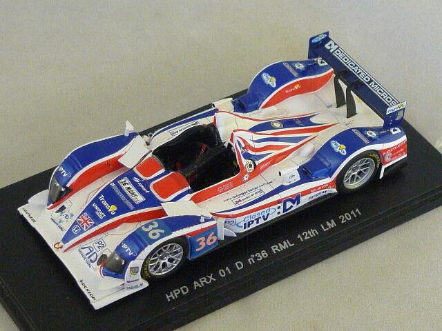 Spark S2534 - HPD HPD HPD ARX 01 D RML n°36 12ème Le Mans 2011 Newton - Erdos - Collins 7f206d