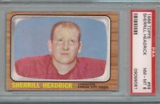 1966 Topps Sherrill Headrick #69 Football Card