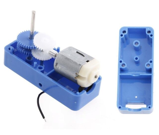 1PCS 130 DC1.5-6V 1:94 Geared motor /w Box shell Case for DIY smart Robot Car UK