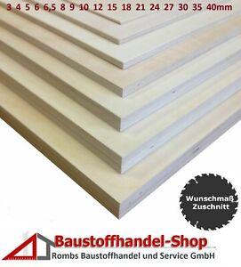 6mm Sperrholz-Platten Zuschnitt L/änge bis 150cm Birke Multiplex-Platten Zuschnitte Auswahl 50x140 cm