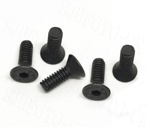 5X de largo 1//4 Cabeza Avellanada Tornillo Para Trípode De Cámara Placa de calibre Accesorio Abrazadera