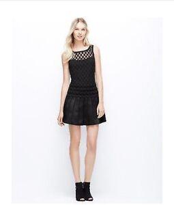 228 Ann Taylor Black Polka Dot Drop Waist Cocktail Dress