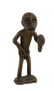 Statuetta, Statuetta Africana IN Bronzo, Vecchio-Lobi-Arte 1079