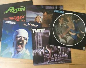 Poison-Ratt-Scorpions-Vinyl-LP-Collection