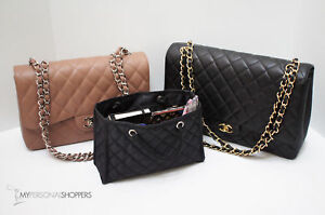 3f00d7f49d61 Image is loading ZOE-Quilted-Organizer-Small-Black-Handbag-Insert-w-
