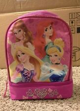 NEW DISNEY PRINCESS  INSULATED DUAL COMPARTMENT LUNCH BAG/BOX