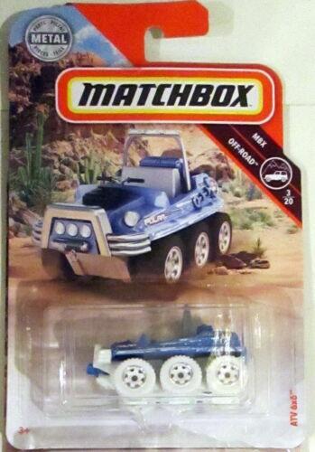 2019 Matchbox ATV 6X6 #75//125 MBX Off-Road Blue /& White