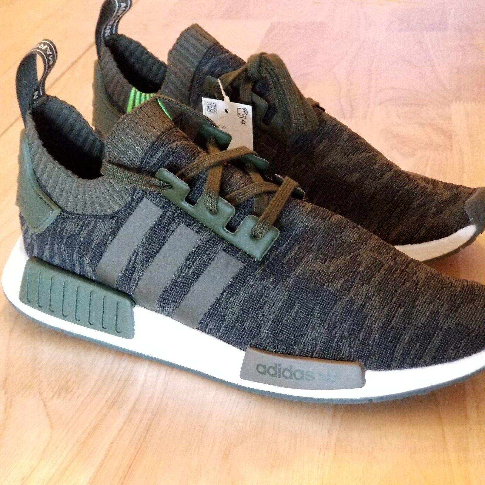 sports shoes 92250 06716 Cargo Night Cargo Primeknit R1 NMD Originals Adidas New Hi ...