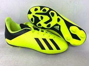 NEW-Adidas-Youth-Boy-039-s-X-18-Soccer-Cleats-Neon-Yellow-Black-DB2420-A31-tz