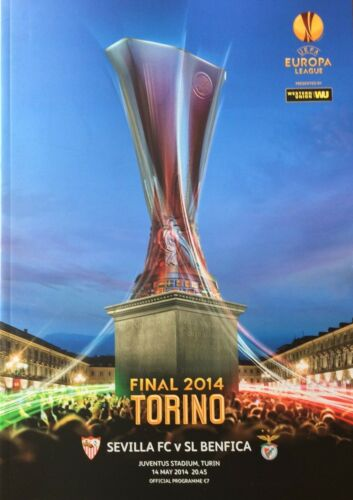 2014 Europa Cup Final Programme Seville v Benfica on 14 May 2014 in Turin