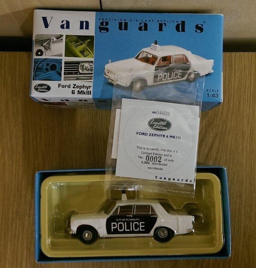 Corgi VA04603 Ford Zephyr 6 MkIII MkIII MkIII Plymouth Police Ltd Edition No 0002 of 5000 b3686b
