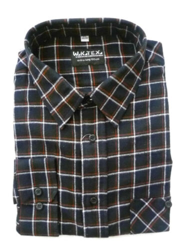 Hemd 4XL Arbeitshemd 49//50 W.K.TEX Flanellhemd Holzfällerhemd Langarmhemd