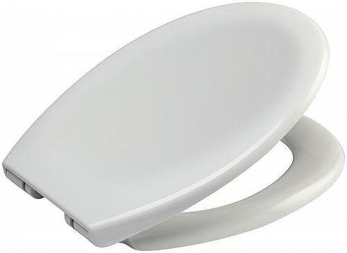 Surprising Strong D Shape Soft Close White Toilet Seat Bathroom Loo Seats Chrome Hinges Creativecarmelina Interior Chair Design Creativecarmelinacom