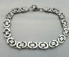 Bracel Link 11in Mens 10mm Necklace Hip Hop High Polish Bling stainless steel ..