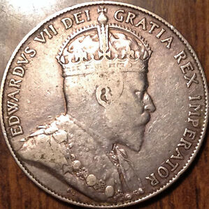 1909-CANADA-SILVER-FIFTY-50-CENTS-IN-GREAT-CONDITION