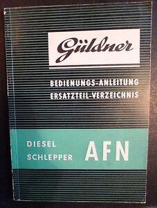 Gueldner-Schlepper-AFN-Betriebsanleitung-Ersatzteilliste