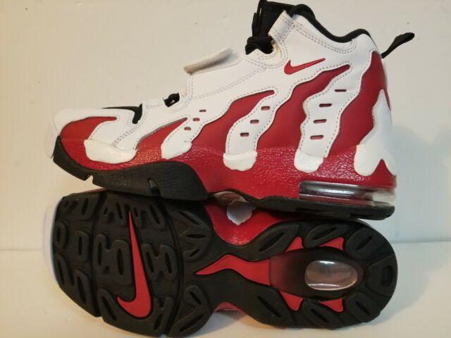 Mens Nike Air Diamond Turf Max 96 White Varsity Red Black 316408 161 US 8