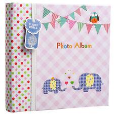 BABY GIRL ROSA MEMO scivolare nella foto album 200 6x4 FOTO ELEFANTE KIDS-ba-9857