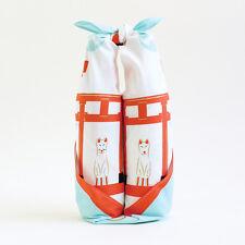 F/S Japanese Furoshiki Wrapping Cloth Kyoto Fushimi Inari White Fox 70cm 27.6in