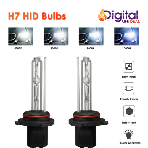6K 8K 35W H7 Xenon Conversion Premium HID Bulbs for Low Beam 43K 10K A.