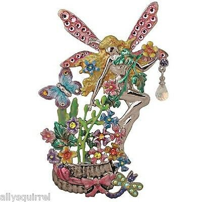 NEW KIRKS FOLLY PETAL PERFECT FAIRY PIN ENHANCER  SILVERTONE BIG & BOLD