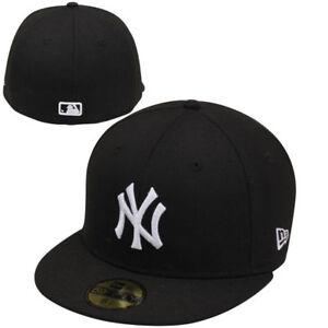 28bc0174c7d NEW YORK YANKEES NEW ERA 5950 FITTED CAP HAT BLACK WHITE NWT MLB ON ...