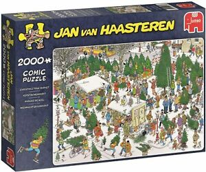 Jan Van Haasteren 2000 Piece Jigsaw Puzzle 'Christmas Tree Market'