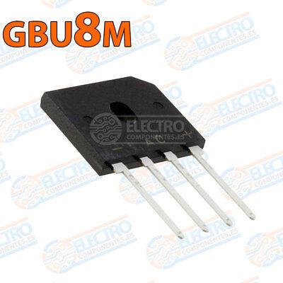 Puente Rectificador Taiwán Semiconductor GBU807 D2 4-Pin gbu 8A 1000V