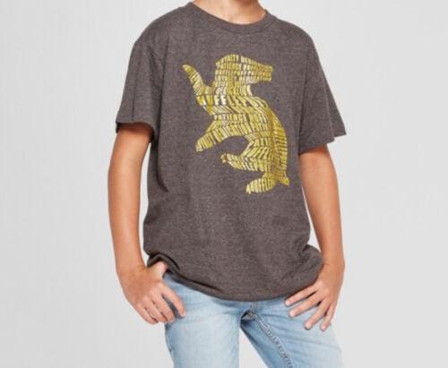Boys/' Harry Potter Hufflepuff  Graphic T-Shirt Charcoal Gray S M L XL
