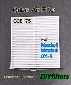 C38175 cabin air filter for mazda cx 5 mazda3 mazda6 2014 for Replace cabin air filter mazda cx 5