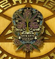 Sugar skull Cannabis Hat Pin Not Blotter Tool Emek Blotter Art Grateful Dead Edm