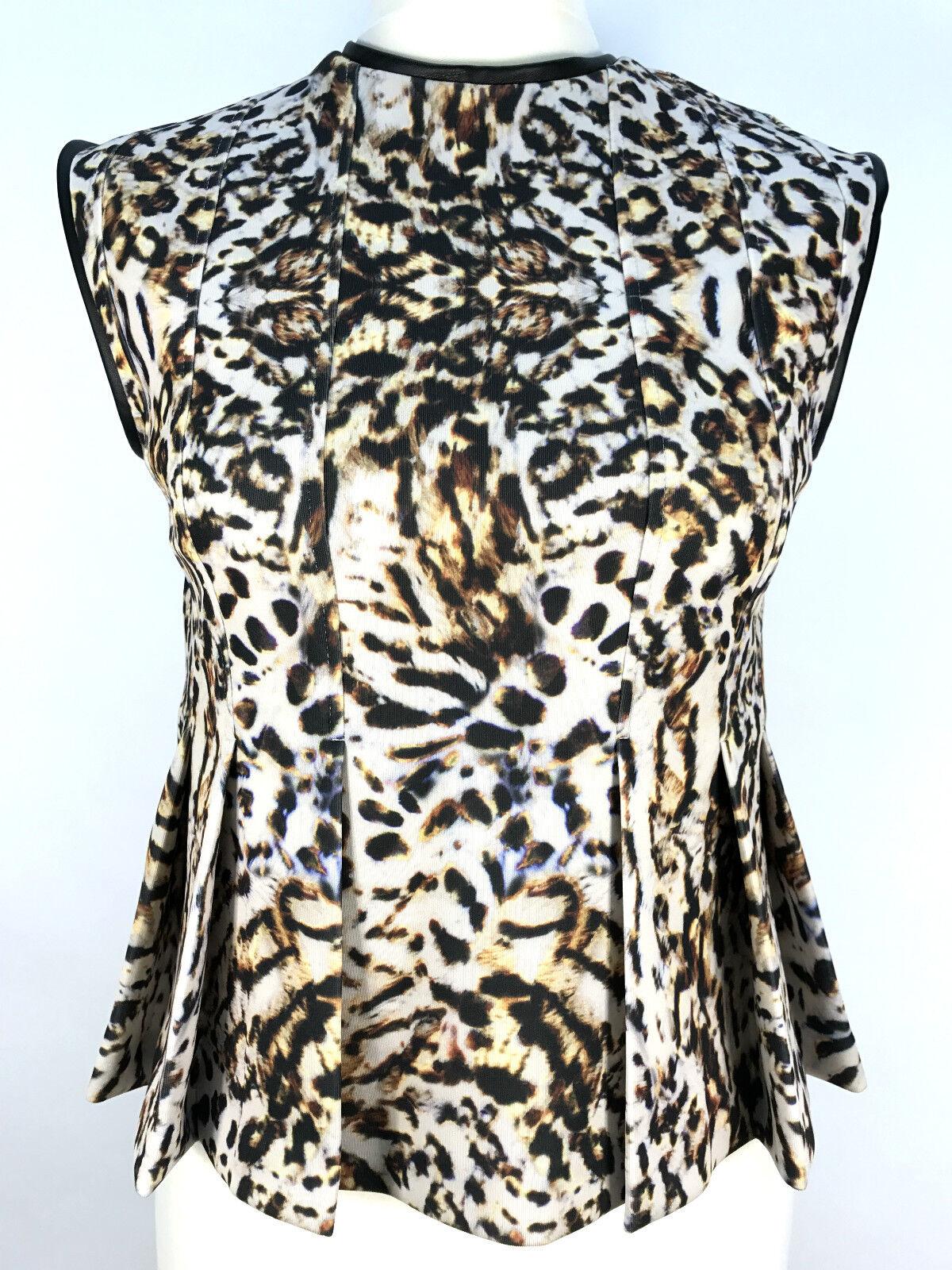 Zara Leopardenmuster Ärmellos Top Größe M