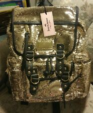JUICY COUTURE - LAST ONE - Gold Sequined - Backpack - Book-bag - retail $99