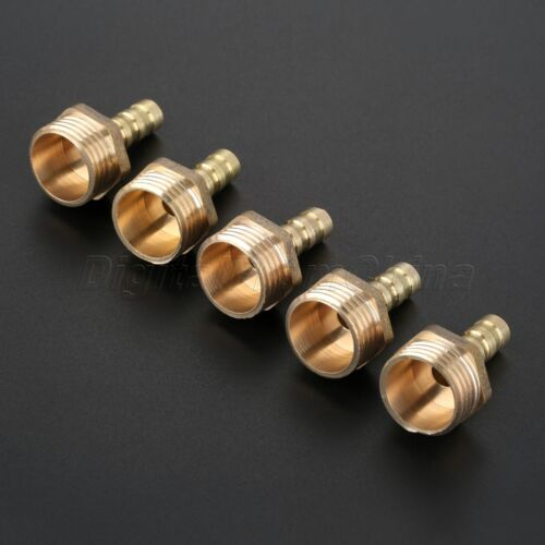 Brass Pneumatic Fitting Female Thread to Hose Barb Tube Quick Coupling 5Pcs//Set