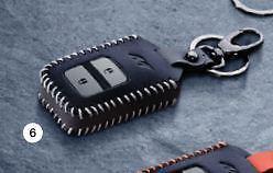 Genuine Honda Leather Case Cover Holder Grey Civic Odyssey HRV Remote Smart Key