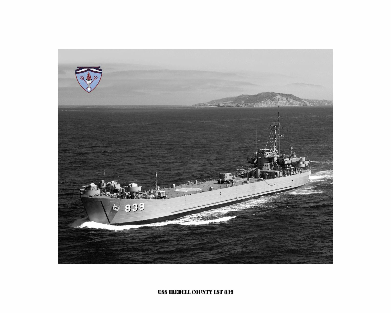 USS Irotell County LST 839 -- Naval Ship Photo Print, USN Navy