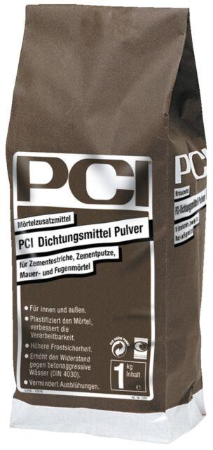 PCI Dichtungsmittel Pulver 1 kg Mörtel-Zusatzmittel für Zemen-Eestrich Mörtel