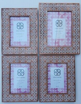 Daisy Fuentes Kohls Rose Gold Copper Picture Frame Decor Set 5x7 Amp 4x6 S Lot Ebay