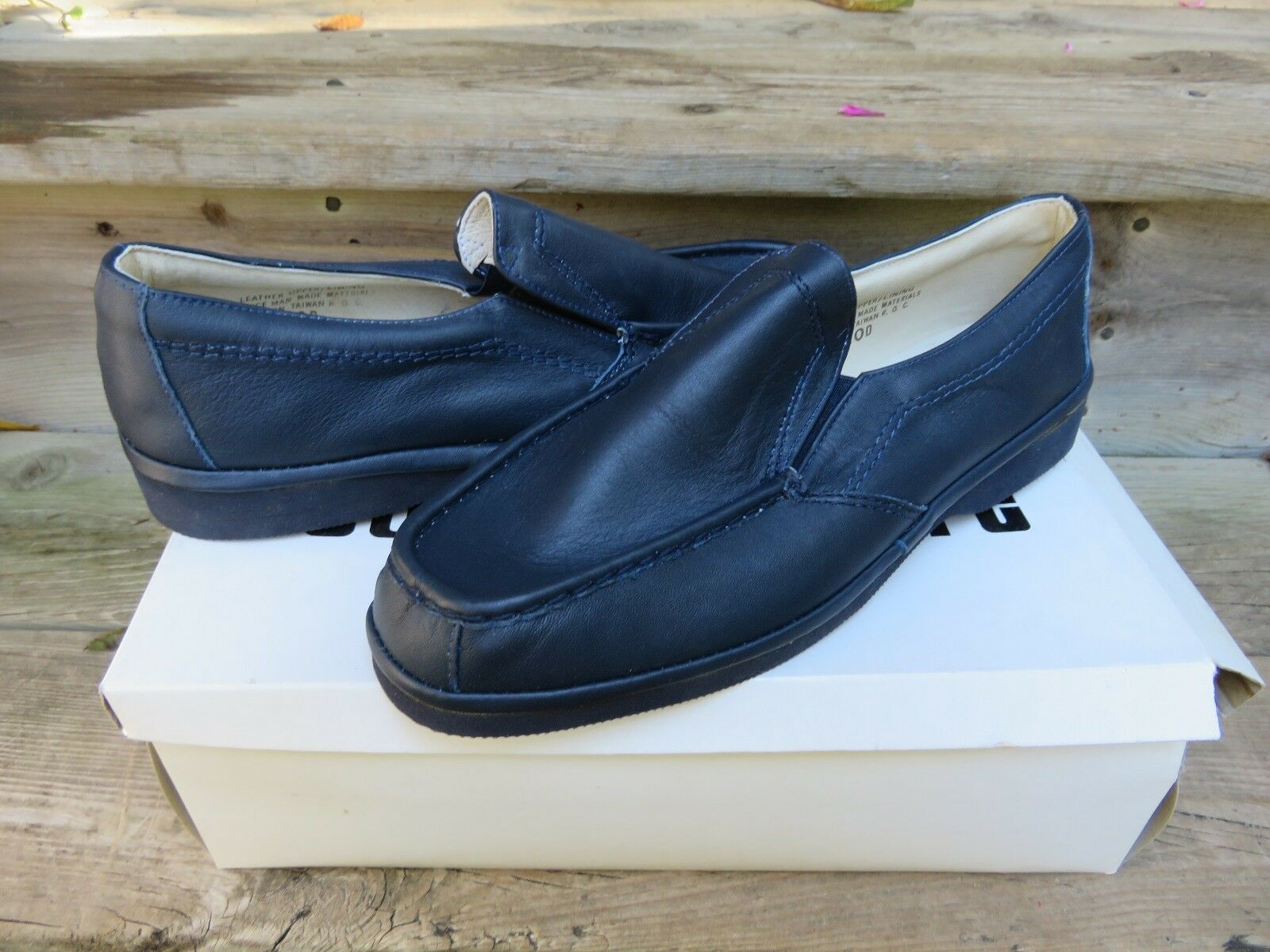 NEW Stuart McGuire Dark bluee Slip-on Loafer Casual shoes Size 4100 10 D