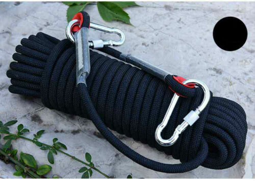 10mm 15M//20M High Strength Outdoor Safety Rescue Rock Climbing Rope Rappelling