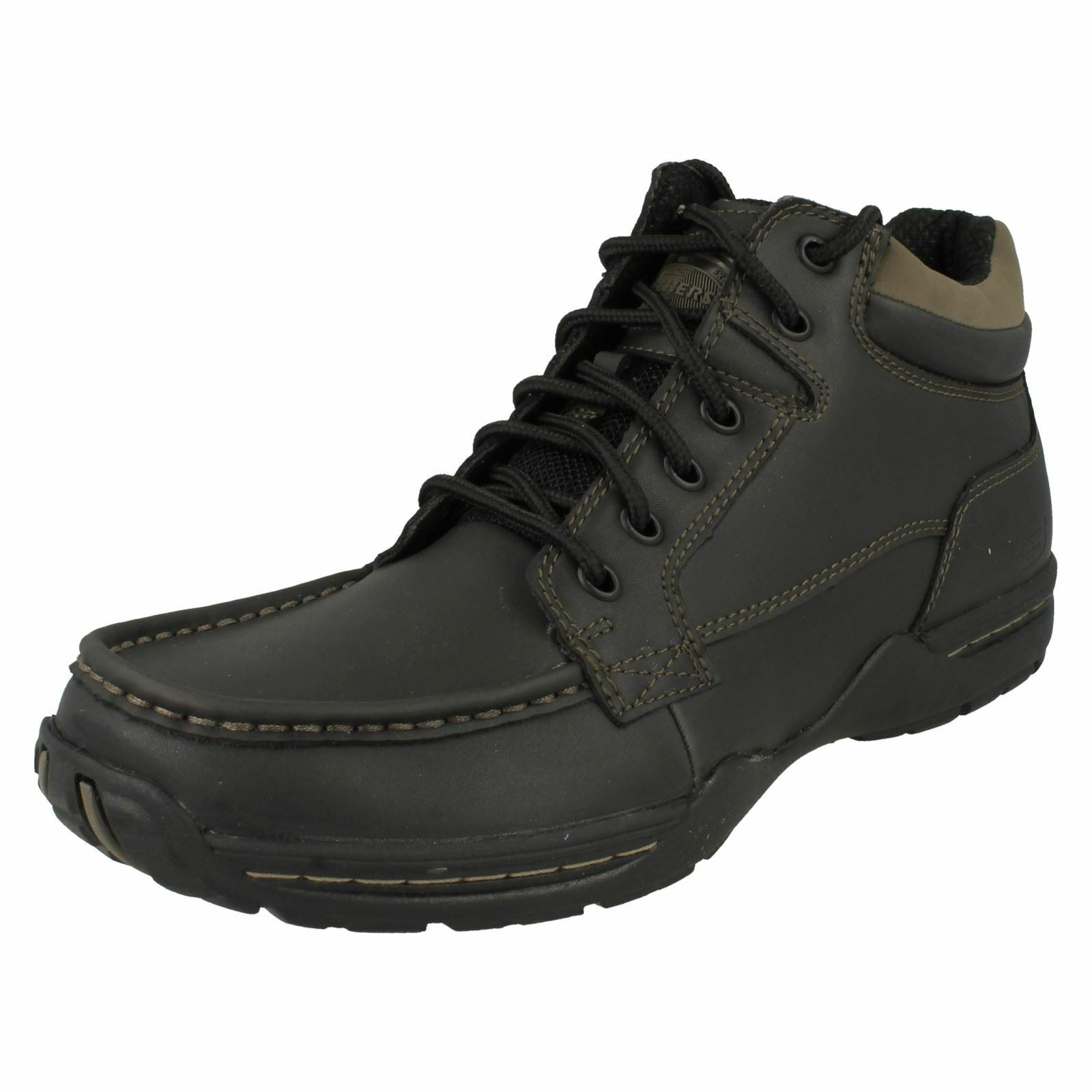 Mens Skechers Casual Lace Up Ankle Boots 'Deside'