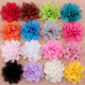 16Pc-Baby-Girl-Hair-Accessory-Chiffon-flower-Child-Flower-No-Head-Clip-Hot-Z9C9