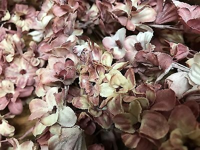 VINTAGE Mini LILACS SILK 1pc flowers Stems JAPAN Dusty Pink Shaded