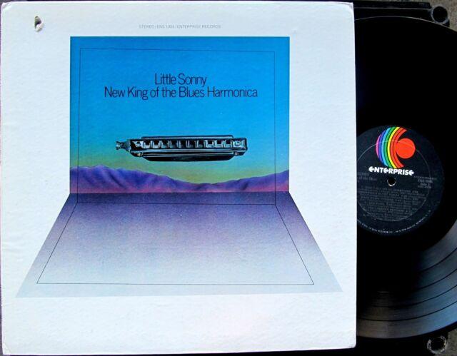 BLUES FUNK HARMONICA LP: LITTLE SONNY New King of the Blues Harmonica ENTERPRISE