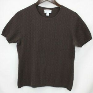 Women-039-s-100-Cashmere-Sweater-Size-M-Medium-Shirt-CHARTER-CLUB-Brown-2-PLY