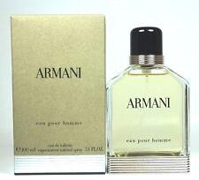 Armani Eau Pour Homme by Giorgio Armani 3.4/3.3 oz Eau de Toilette Men  Sealed