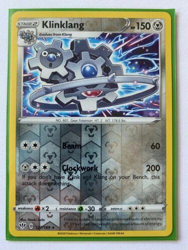 Pokemon Card  KLINKLANG  Reverse Holo Rare 127//189 DARKNESS ABLAZE *MINT*