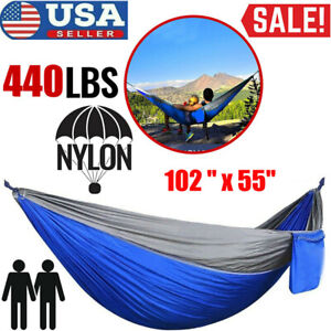 Camping Double Hammock Hunting Outdoor Garden Hanging Swing Yard Chair Bed Nylon