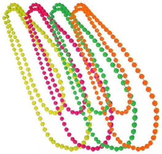 "Dress Up 80's Fancy Dress Party Dance 48"" Bead Beads Set"