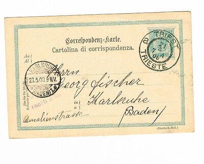 Diverse Philatelie Österreich Sehr Saubere Ga Ab Triest 21.5.1900 Nach Karlsruhe Hohe Belastbarkeit